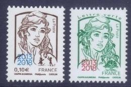 Marianne Ciappa 0.10 + Lettre Verte Surchargée 2013/2018 - Salon Paris Philex (2018) Neuf** - 2013-... Marianne Of Ciappa-Kawena