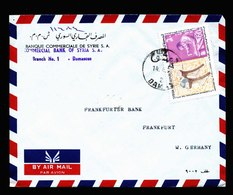 A5650) Syrien Syrie Brief Damascus 1971 N. Germany - Syrien