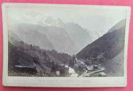 1878-79 Photo Sur Carton Vallée De Lauterbrunen & La Jungfrau éditeur Charnaux N°558 Maison Des 3 Rois Genève Suisse - Photographs