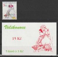 MiNr. 104 + MH 34 Tschechische Republik: 1996, 13. März. Ostern. - Tschechische Republik