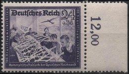 ALLEMAGNE DEUTSCHES III REICH 810 ** MNH Fédération Des Postiers Allemands Facteur Factrice Planeur Glider Bdf - Deutschland
