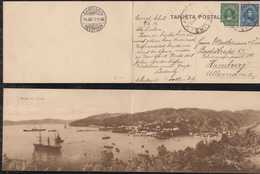 Chile 1912 Panorama Picture Postcard BAHIA De CORRAL To Germany - Chile