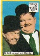 Match Box Label  Vlinder  B 140  Laurel & Hardy - Advertising