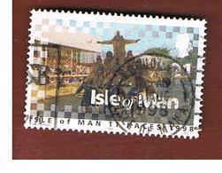 ISOLA DI MAN (ISLE OF MAN)  -  SG 808  -   1998  TOURIST TROPHY TEAM  -   USED - Isle Of Man