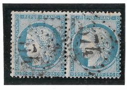 TIMBRES N° 60/1 ;  PAIRE  79/80 B2 ,   TB - 1871-1875 Cérès