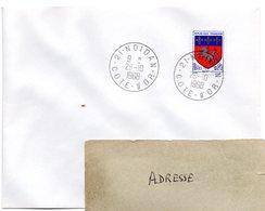COTE D'OR - Dépt N° 21 = NOIDAN 1968 = CACHET MANUEL A9 - Postmark Collection (Covers)