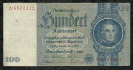 ALLEMAGNE .  BILLETS DE 100 REICHSMARK . - [ 4] 1933-1945 : Troisième Reich