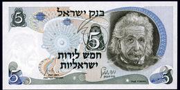 ISRAELE (Israel)  : 5 Lire. A. Einstein. 1968 - UNC - Israele