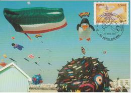 Berck Sur Mer Rencontre Internationale Cerfs-volants 2007 - Gedenkstempel