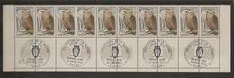 Bloc De 10 Timbres Grand Duc N°1694 (bord De Feuille, Oblitération 1er Jour Dans La Marge) - Ongebruikt