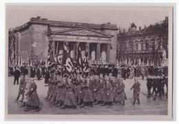 """DT- Reich (002130) Propaganda Sammelbild Deutschland Erwacht"""""""" Bild 115, Volkstrauertag 1933, Vorbeimarsch Der SA Und SS - Deutschland"""