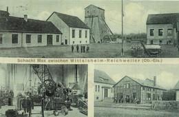 Wittelsheim & Richwiller (68, Alsace) - Carte Postale - Les Mines. (2 SCANS). - Autres Communes