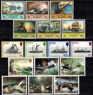 MVS-BK1-205 MINT ¤ JERSEY 1978-1983-1984 3X Serie ¤ MARITIEM - VOILIERS - ZEILSCHEPEN - SAILING SHIPS OVER THE WORLD - Maritiem