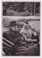 Dt.-Reich (002155) Propaganda Sammelbild, Deutschland Erwacht, Bild 151, Reichspräsident Und Kanzler In Neudeck - Briefe U. Dokumente