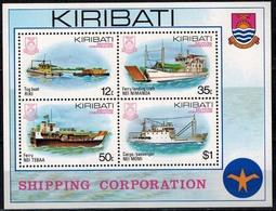 MVS-BK1-289 MINT ¤ KIRIBATI 1988 BLOCK ¤ MARITIEM - VOILIERS - ZEILSCHEPEN - SAILING SHIPS OVER THE WORLD - Maritiem
