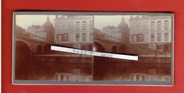 LILLE NORD 10 AVRIL 1914 PONT NEUF ET EGLISE DE LA MADELEINE PHOTOGRAPHIE STEREOSCOPIQUE - Photos Stéréoscopiques