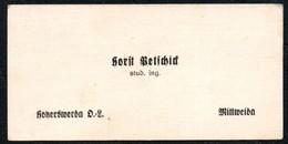 B8048 - Horst Betschick - Visitenkarte - Student Ingenieur - Ingenieurshochschule Mittweida Hoherswerda - Visitenkarten
