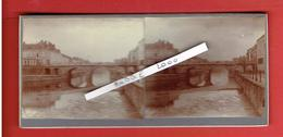 LILLE NORD 10 AVRIL 1914 PONT NEUF PRIS DE L EMPLACEMENT DE L ANCIENNE MORGUE PHOTOGRAPHIE STEREOSCOPIQUE - Photos Stéréoscopiques
