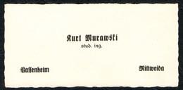 B8049 - Kurt Murawski - Visitenkarte - Student Ingenieur - Ingenieurshochschule Mittweida Pfaffenheim - Visitenkarten