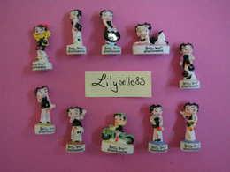 Serie Complète 10 Fèves En Porcelaine - BETTY BOOP 2011 ( Feve Miniature Figurine ) - Dessins Animés
