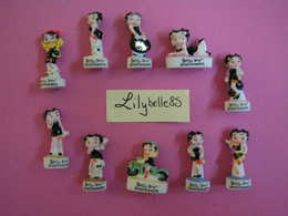 Serie Complète 10 Fèves En Porcelaine - BETTY BOOP 2011 ( Feve Miniature Figurine ) - Cartoons
