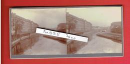 LILLE NORD 10 AVRIL 1914 L HOSPICE GENERAL VU DE LA PASSERELLE DE L ABATTOIR PHOTOGRAPHIE STEREOSCOPIQUE - Photos Stéréoscopiques