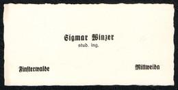 B8050 - Sigmar Winzer - Visitenkarte - Student Ingenieur - Ingenieurshochschule Mittweida Finsterwalde - Visitenkarten