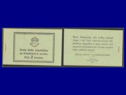 SUEDE Carnets Yvert:C 126 Carnet Complet 2kr. (4° Couverture = 1922), 20x10 Ore Vert, Sans Filigrane, Luxe - Qualité: XX - Zonder Classificatie
