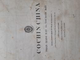 """Carte Marine Rare Map Charts. """"Cochinchina"""" 1840 Correction 1871. 72cm/48 Map Dépôt Général De La Marine - Nautical Charts"""