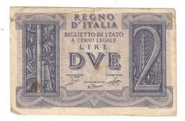 Italy 2 Lire 1939 .L. - Italia – 2 Lire