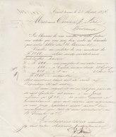 Couvet, Extrait D'absinthe, Lettre Signée Edouard Pernod 1874  -> Bordeaux - Suisse