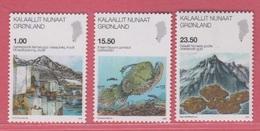 2009** (sans Charn., MNH, Postfrish)   Yv  523/5    Mi  542/4 - Groenland