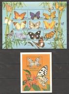 H971 MALDIVES BUTTERFLIES OF MALDIVES 1SH+1BL  MNH - Butterflies