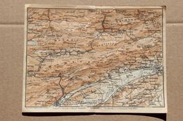 Carte BAEDEKER 1907, Bienne (Biel, Berne, Suisse), Soleure (Solothurn) - Geographical Maps