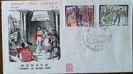 MONACO - FDC 1975 - YT N°1008, 1009 - CARMEN, Georges BIZET - FDC