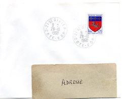 COTE D'OR - Dépt N° 21 = St DIDIER 1968 = CACHET MANUEL A9 - Postmark Collection (Covers)
