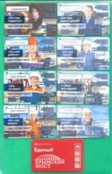 "Set 8 Pcs Metro Ticket, Tram, Bus, Trolleybus Of Moscow , ""Crimean Bridge"" 2016 - Europa"