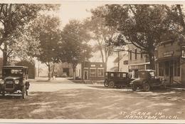 Etats - Unis - Michigan : ST Scene In Hamilton,mich  Carte Photo ( Vieilles Voitures )   Réf 4936 - Etats-Unis