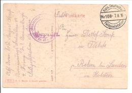 WO1 Feldpost. Nr.108 - 1. Weltkrieg