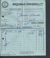 PORTUGAL FACTURE  DE 1985 MACHINES A BOIS ( SCIERIE DE PINHEIRO ) TROFA : - Portugal