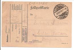 WO1 Feldpost. Tübingen - 1. Weltkrieg