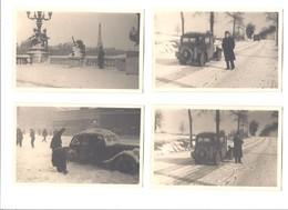4  Bilder  ORIGINAL  Von Paris Und Umgebung Im Winter  Aus Dem Jahre 1948 - Berufe