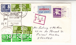 Ireland / Tax / U.S. / Airmail - Ireland