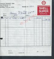 PORTUGAL FACTURE  DE 1981 CARLOS AZEVEDO SHELL SUPER MOTOR OIL MACIEIRA : - Portogallo