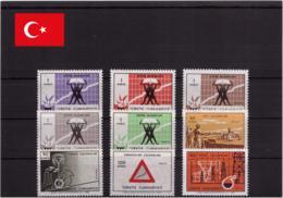 Turquie 1969 MNH ** - Progrès - Michel Nr. 2126-2134 Série Complète (tur089) - 1921-... República