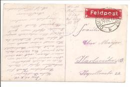 WO1 Feldpost.120 + Zettel - 1. Weltkrieg
