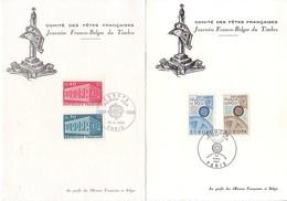 Un Lot De 10 Cartes Max - Thème Europa - Timbres Bleges Et Français 65 à 69 - Comité Des Fêtes Françaises - Maximum Cards