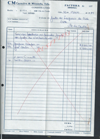 PORTUGAL FACTURE  DE 1989  CARNEIRO & MIRANDA CONSTRUCOES GIAO VILA DO CONDE : - Portugal