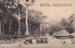 CONGO BELGE 1913  ENTIER POSTAL CARTE ILLUSTREE DE POPOKABAGA - Stamped Stationery