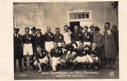 JEUX OLYMPIQUES De 1924  -  FOOTBALL Equipe SUISSE  Carte Photo - Jeux Olympiques